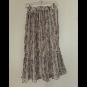 Dresses & Skirts - Midi snakeskin print skirt